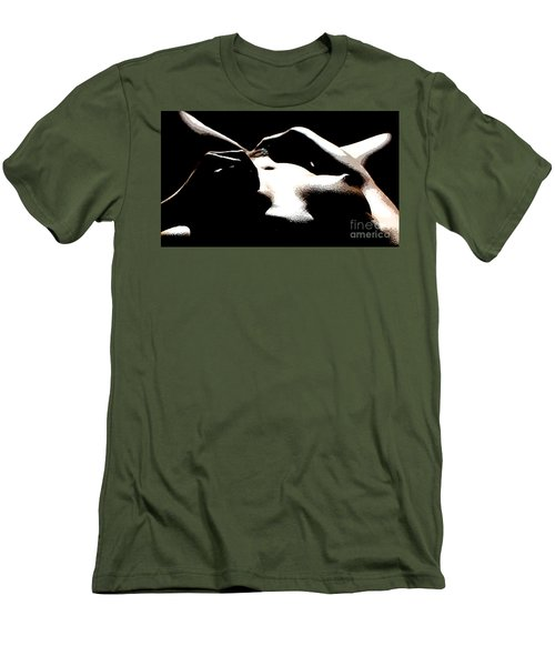 Alone Men's T-Shirt (Slim Fit) by Tbone Oliver