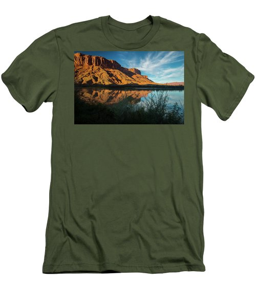 Men's T-Shirt (Athletic Fit) featuring the photograph Along The Colorado by Gary Lengyel