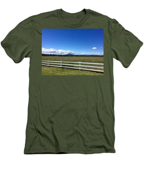 Along The Fence Line Men's T-Shirt (Athletic Fit)