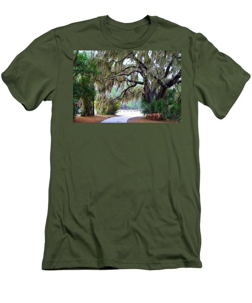 Men's T-Shirt (Slim Fit) featuring the photograph Along The Path by Kathryn Meyer