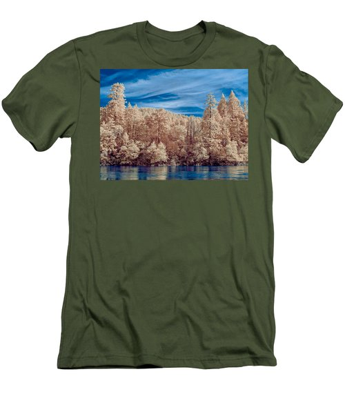 Along The Smith River In Infrared Men's T-Shirt (Athletic Fit)