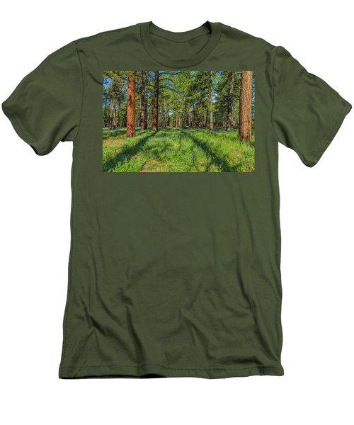Alpine Flowers Men's T-Shirt (Athletic Fit)