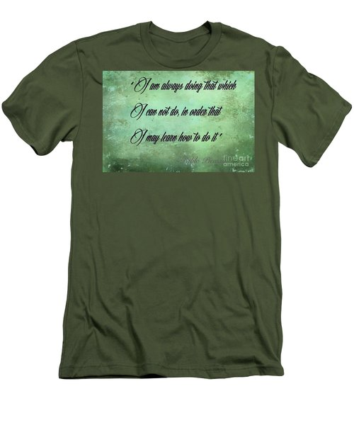 Men's T-Shirt (Slim Fit) featuring the photograph Always by Jim  Hatch