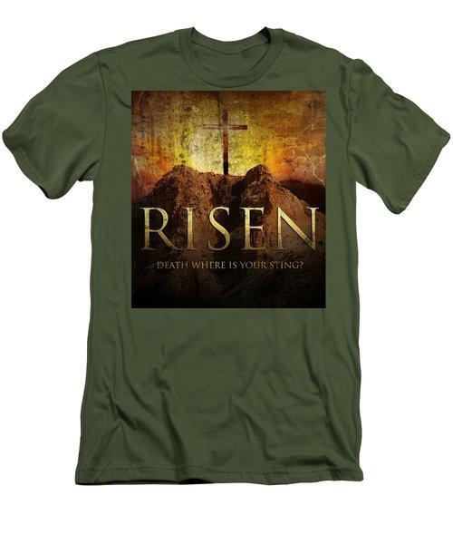 Always Risen Men's T-Shirt (Slim Fit) by David Norman