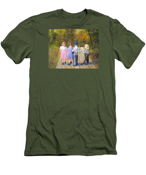 Always Together Men's T-Shirt (Slim Fit) by Alan Lakin