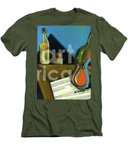 Amandas Violin Men's T-Shirt (Athletic Fit)
