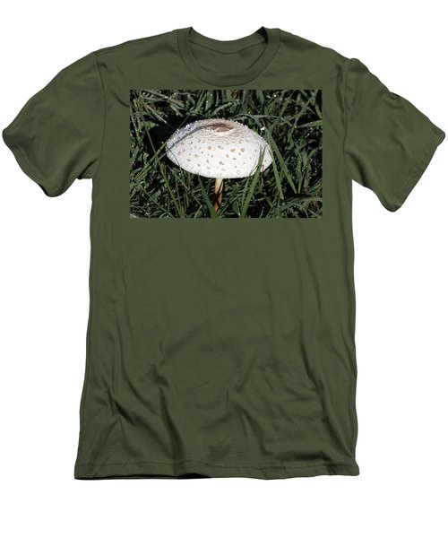 Men's T-Shirt (Athletic Fit) featuring the photograph Amanita Mushroom And Morning Dew by Sheila Brown
