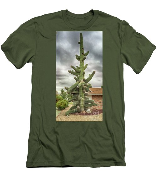 Arizona Christmas Tree Men's T-Shirt (Slim Fit) by Anne Rodkin