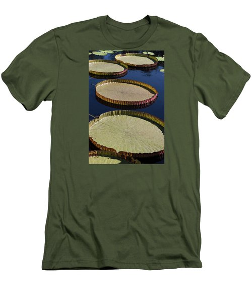 Amazonas Lily Pads II Men's T-Shirt (Slim Fit) by Suzanne Gaff