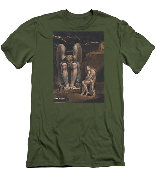 America. A Prophecy, Plate 1, Frontispiece Men's T-Shirt (Slim Fit) by William Blake
