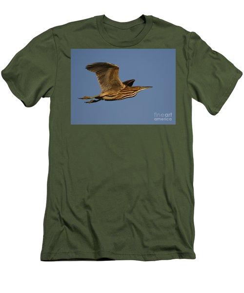American Bittern Flight Men's T-Shirt (Slim Fit) by Myrna Bradshaw