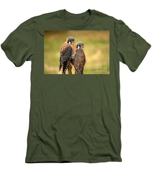 American Kestrel Siblings Men's T-Shirt (Athletic Fit)