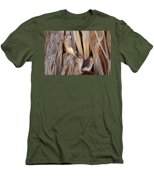 Men's T-Shirt (Slim Fit) featuring the photograph American Kestrels by Dan Redmon