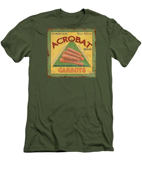 Americana Vegetables 2 Men's T-Shirt (Slim Fit) by Debbie DeWitt