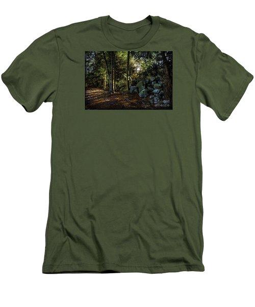 Among The Rocks Men's T-Shirt (Slim Fit) by Ken Frischkorn