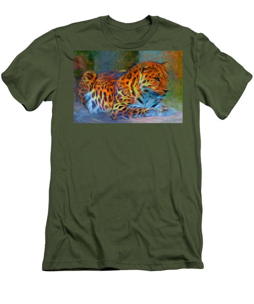 Amur Leopard Men's T-Shirt (Slim Fit) by Caito Junqueira