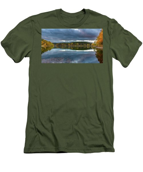An Autumn Evening At The Lake Men's T-Shirt (Slim Fit) by Andreas Levi