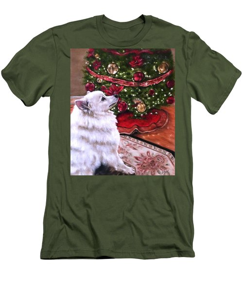 An Eskie Christmas Men's T-Shirt (Athletic Fit)