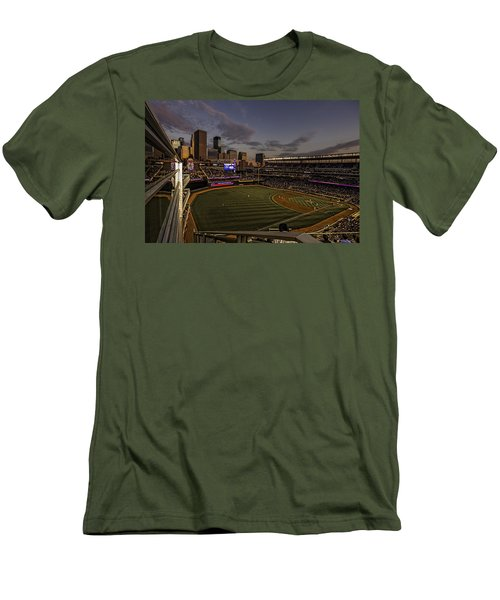 Men's T-Shirt (Slim Fit) featuring the photograph An Evening At Target Field by Tom Gort