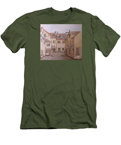 Men's T-Shirt (Slim Fit) featuring the painting An Ode To Charles Dickens  by Annemeet Hasidi- van der Leij