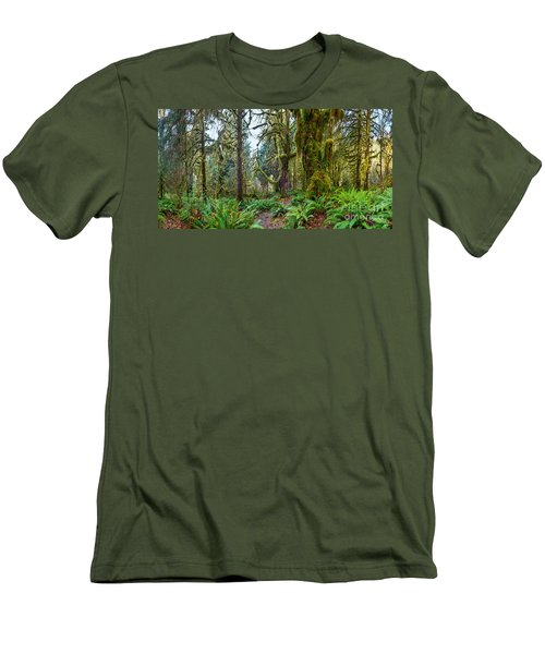 Ancient Forest Panorama Men's T-Shirt (Athletic Fit)