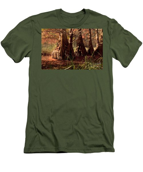 Men's T-Shirt (Slim Fit) featuring the photograph Ancient Tree At Lake Murray by Tamyra Ayles