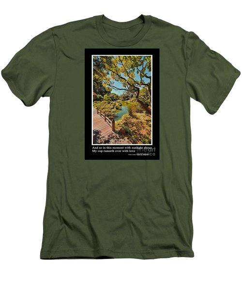 And So In This Moment With Sunlight Above Men's T-Shirt (Slim Fit) by Jim Fitzpatrick