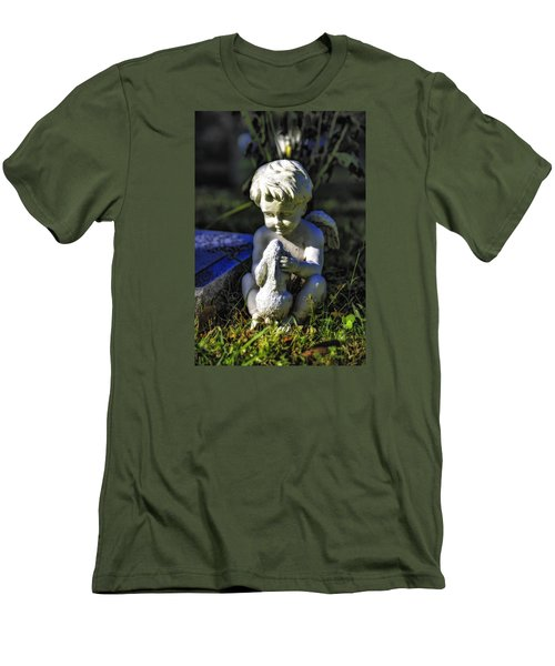 Angel 001 In Hdr Men's T-Shirt (Slim Fit) by Michael White