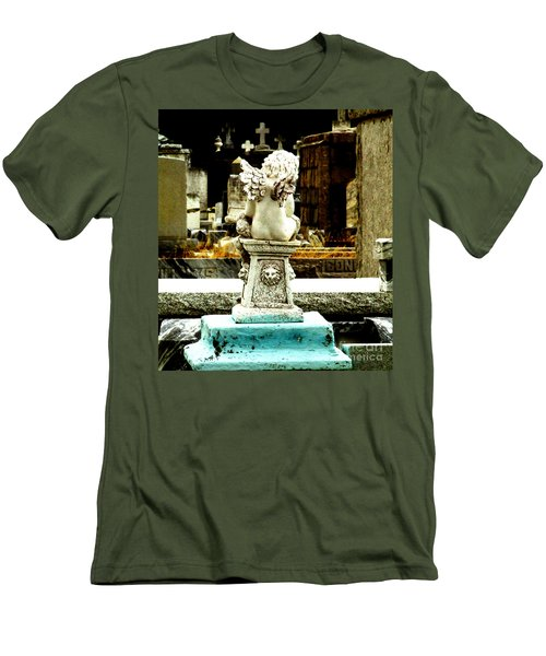 Angel Watching Over Me Men's T-Shirt (Athletic Fit)