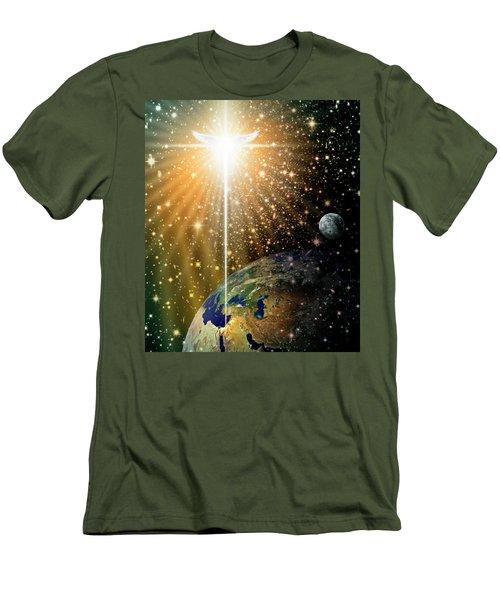 Angelic Star Over Bethlehem Men's T-Shirt (Slim Fit)