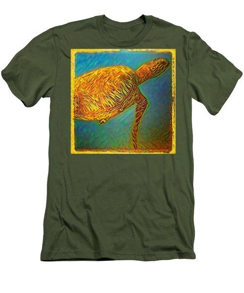 Annabelle The Turtle Men's T-Shirt (Slim Fit) by Erika Swartzkopf