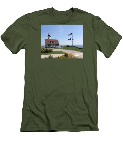 Portland Lighthouse ----- Edit Men's T-Shirt (Athletic Fit)