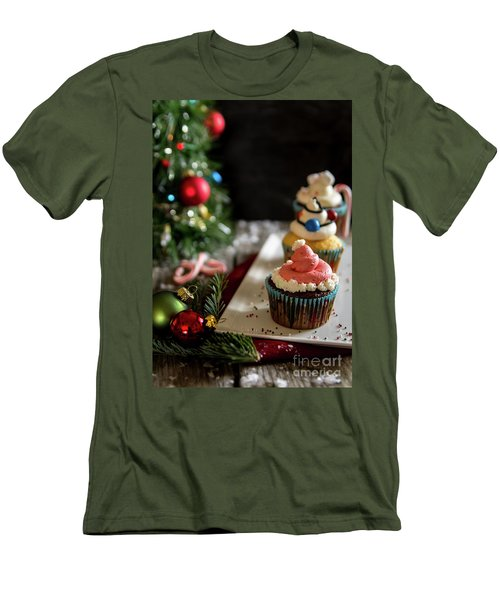 Men's T-Shirt (Slim Fit) featuring the photograph Another Christmas To Remember by Deborah Klubertanz