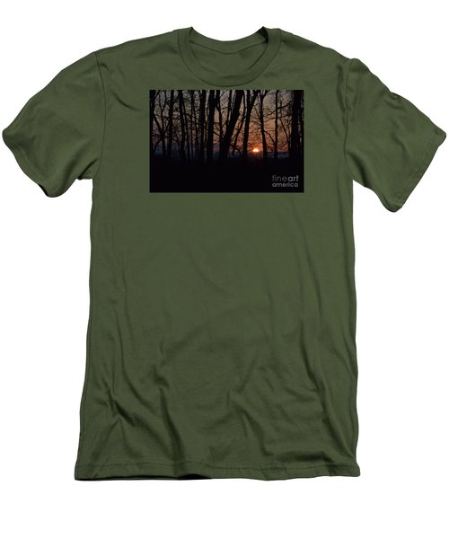 Another Sunrise In The Woods Men's T-Shirt (Slim Fit) by Mark McReynolds