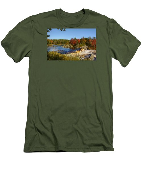 Another View Of Liscombe Falls Men's T-Shirt (Slim Fit) by Ken Morris