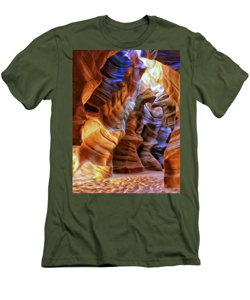 Antelope Canyon Men's T-Shirt (Slim Fit) by Dominic Piperata