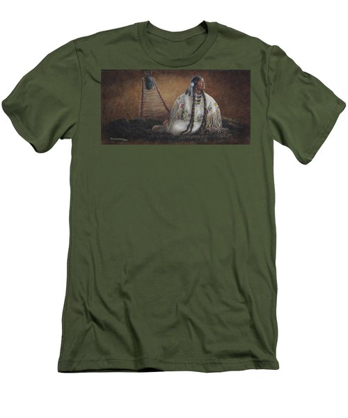 Men's T-Shirt (Slim Fit) featuring the painting Anticipation by Kim Lockman