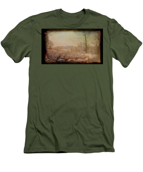 Men's T-Shirt (Athletic Fit) featuring the photograph Antique Amber Winters Glory by Aimee L Maher Photography and Art Visit ALMGallerydotcom