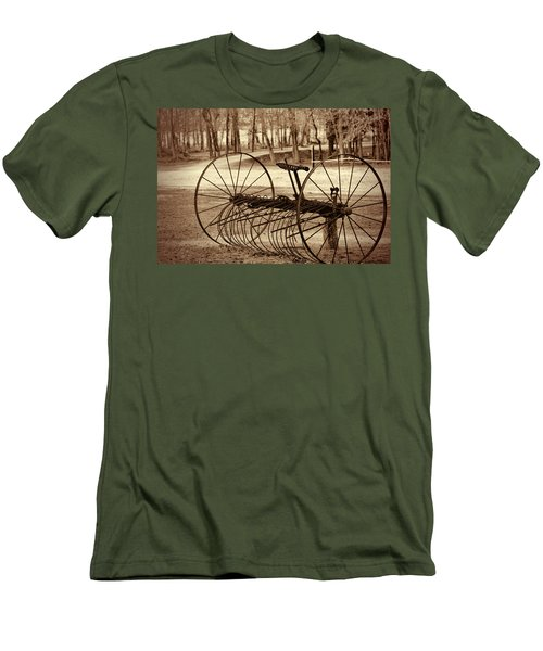 Antique Farm Rake In Sepia Men's T-Shirt (Athletic Fit)