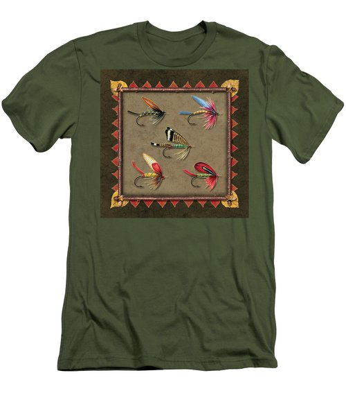 Antique Fly Panel Men's T-Shirt (Slim Fit) by JQ Licensing