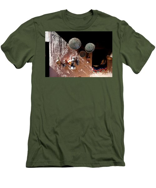 Men's T-Shirt (Slim Fit) featuring the photograph Antique Lanterns by Andrew Fare