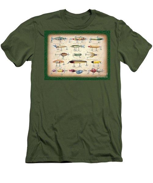 Antique Lures Panel Men's T-Shirt (Slim Fit) by JQ Licensing