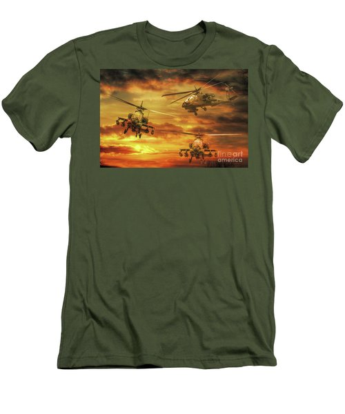 Apache Attack Men's T-Shirt (Slim Fit) by Randy Steele