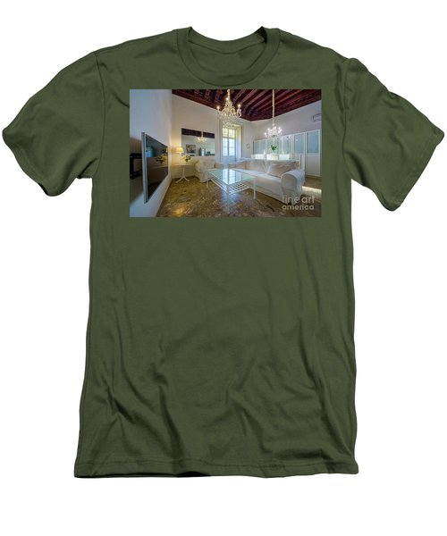 Men's T-Shirt (Athletic Fit) featuring the photograph Apartment In The Heart Of Cadiz 17th Century by Pablo Avanzini