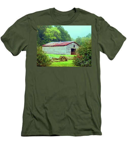 Appalachian Livestock Barn Men's T-Shirt (Slim Fit) by Desiree Paquette