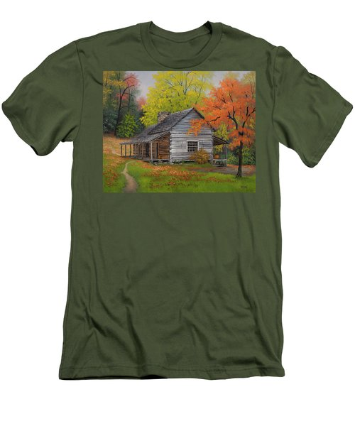 Appalachian Retreat-autumn Men's T-Shirt (Slim Fit) by Kyle Wood