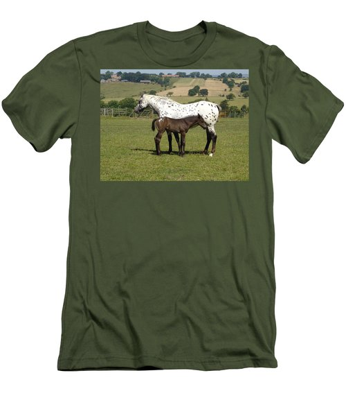 Appaloosa Mare And Foal Men's T-Shirt (Athletic Fit)
