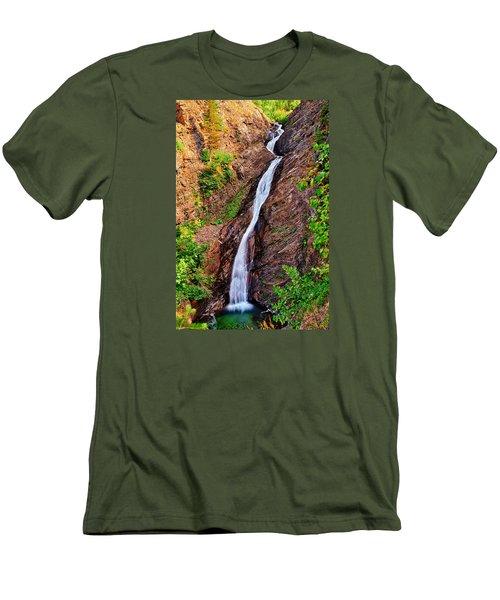Appistoki Falls Men's T-Shirt (Slim Fit) by Greg Norrell