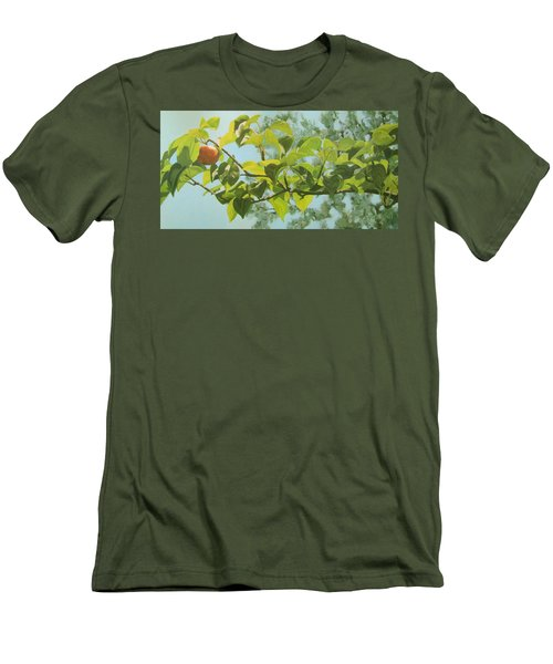 Men's T-Shirt (Slim Fit) featuring the painting Apple A Day by Karen Ilari
