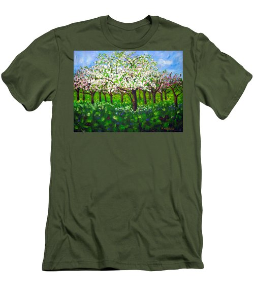 Apple Blossom Orchard Men's T-Shirt (Athletic Fit)